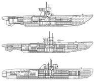 Submarino Imagem de Stock