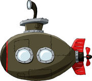 Submarino ilustração royalty free