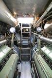 Submarino alemán interior fotografía de archivo