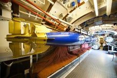 Submarino alemão - compartimento do torpedo Imagem de Stock