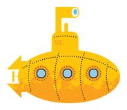 Submarino amarelo Foto de Stock Royalty Free