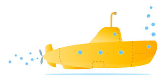 Submarino amarelo Fotografia de Stock Royalty Free
