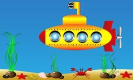 Submarino amarelo ilustração stock