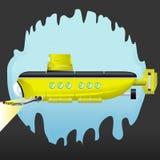 Submarino amarelo Imagens de Stock Royalty Free