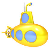 Submarino amarillo. Fotos de archivo libres de regalías