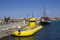 Submarino amarillo Imagen de archivo libre de regalías
