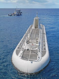 Submarino branco foto de stock