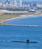 Submarino de ataque da classe de SSN Los Angeles imagens de stock