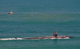 Submarino de ataque de la clase de Los Ángeles Foto de archivo libre de regalías