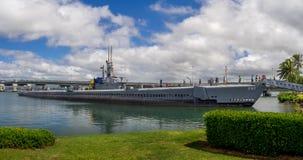 Submarino de Bowfin en museo del Pearl Harbor Foto de archivo libre de regalías