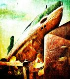 Submarino de Grunge fotos de archivo libres de regalías