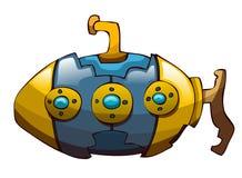 Submarino de la historieta Imagen de archivo