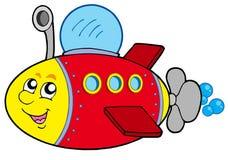Submarino de la historieta Fotografía de archivo