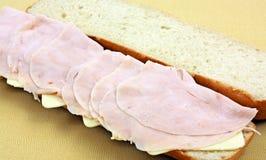 Submarino de Turquia e de queijo Imagem de Stock