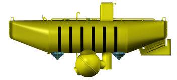 Submarino del mar profundo aislado Fotografía de archivo libre de regalías