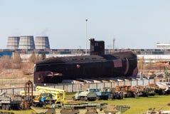 Submarino diesel soviético viejo B-307 (clase del tango) Fotografía de archivo