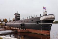 ` Submarino do ` B-440, a cidade de Vytegra, região de Vologda, Federação Russa 29 de setembro de 2017 O museu da glória militar  Foto de Stock Royalty Free