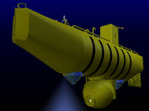 Submarino do mar profundo Imagens de Stock