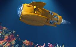 Submarino do mar profundo Fotos de Stock Royalty Free