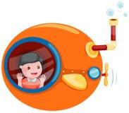 Submarino dos desenhos animados ilustração stock