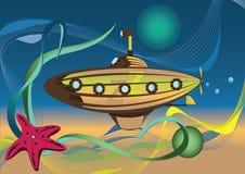 Submarino. Imagen del vector Foto de archivo