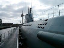 Submarino no porto do museu de Bremerhaven Foto de Stock