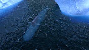 Submarino que viaja en la superficie del Océano ártico Foto de archivo