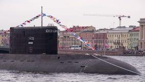 Submarino ruso almacen de video