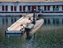 Submarino ruso en Sevastopol imagen de archivo libre de regalías