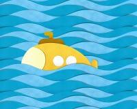 Submarino sobre o mar Imagens de Stock
