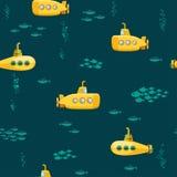 Submarino submarino amarillo Fotografía de archivo