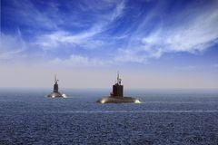 Submarinos imagem de stock royalty free