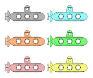 Submarinos do vetor Imagem de Stock