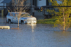 Submerged Car in Valley Park Food Waters Royalty Free Stock Photography