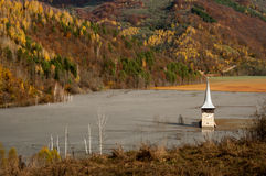 Submerged church at Geamana Royalty Free Stock Image