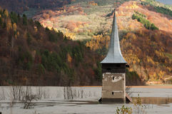 Submerged church at geamana Stock Image