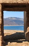 Submerged Church of Mavrovo Lake, Macedonia Royalty Free Stock Photos