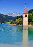 Lago di Resia (Reschensee), Italy Royalty Free Stock Photos