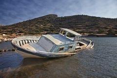 Submerged fishing boat Stock Image
