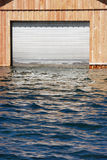 Submerged garage door Stock Images
