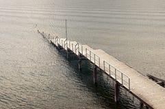 Submerged pier Royalty Free Stock Photo