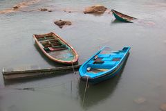 Submerged small boats. Cheung Chau. Hong Kong. Stock Images