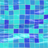 Submerged tiles big blue Stock Photo