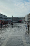Submerged Venice square Royalty Free Stock Photos