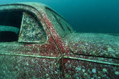 Submerged Volkswagen Beetle royalty free stock images