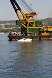 Submerging operation Stock Image