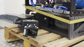 Submersible manipulattor test stock video footage