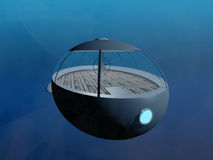 Submersible underwater Royalty Free Stock Image