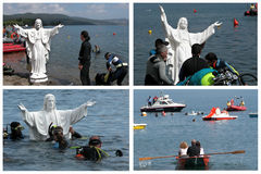 Submersion du Christ Image libre de droits