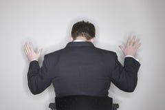 Submissão do homem de negócios fotografia de stock